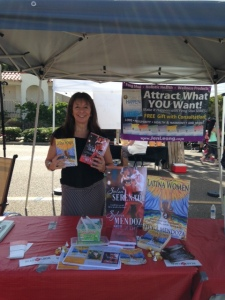 In the READ LOCAL San Diego booth at the Encinitas Street Fair